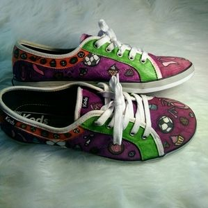 Keds Hand-Painted Custom Sneakers Size 8